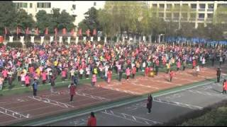 preview picture of video 'Chinese school morning exercises / Ecole Dongfeng Citroen de Wuhan'