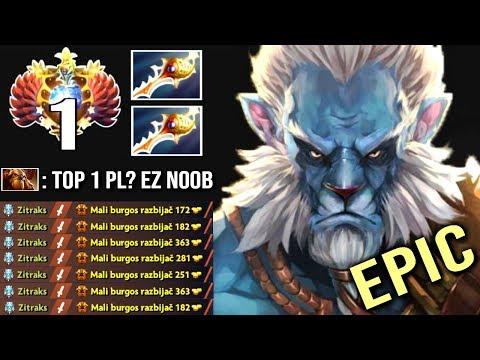 EPIC GAME! Top 1 Divine Rapier Phantom Cancer vs Earthshaker Best Counter Insane Gameplay WTF Dota 2