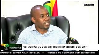 Chamisa Reiterates Calls To Lift Sanctions Against Zimbabwe