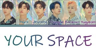 [Color Coded Lyrics] GOT7   Your Space (KanjiRomEng)