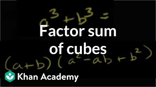 Factoring Sum of Cubes