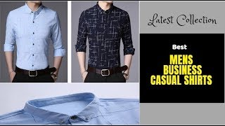 Best Men's Shirt Collection On Aliexpress |  Men Brand Casual Shirt | Latest Collection
