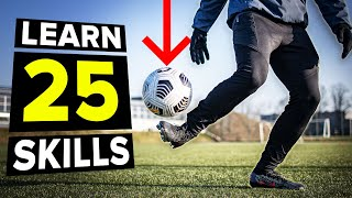 25 ways to control the ball in the air | Learn first touch skills