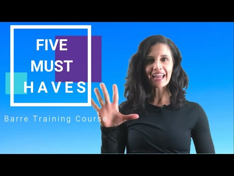 5 Items Your Barre Training & Certification Must Have - YouTube