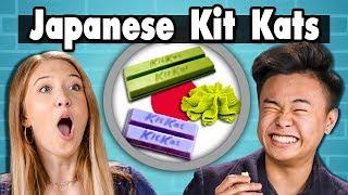 TEENS EAT JAPANESE KIT KATS! | People Vs. Food - dooclip.me