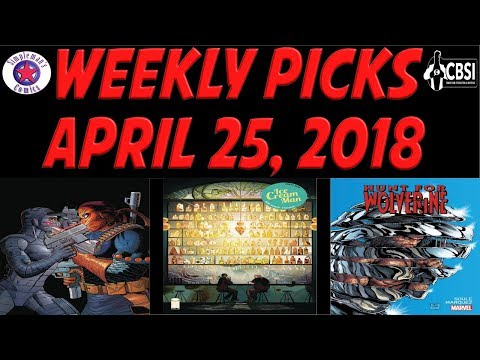 Weekly Picks for New Comic Books Releasing April 25, 2018