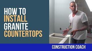 How to Install Granite Countertops - DIY
