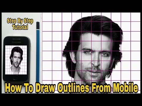 How To Draw Outlines From Phone Using Grid Method