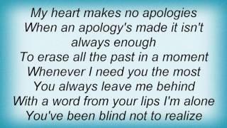 Alanis Morissette - No Apologies Lyrics