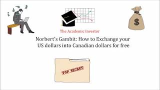 Norbert's Gambit: How to Exchange Canadian Dollars into US Dollars for Free!