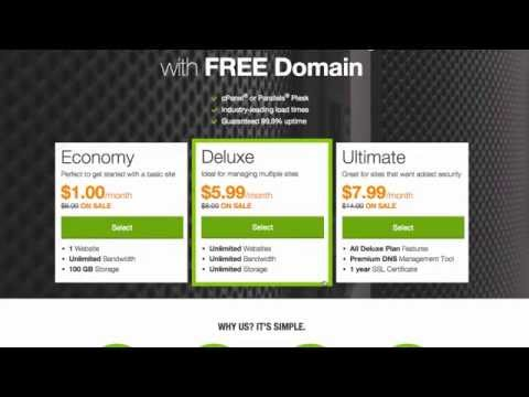 GoDaddy Web Hosting Review & Tutorial
