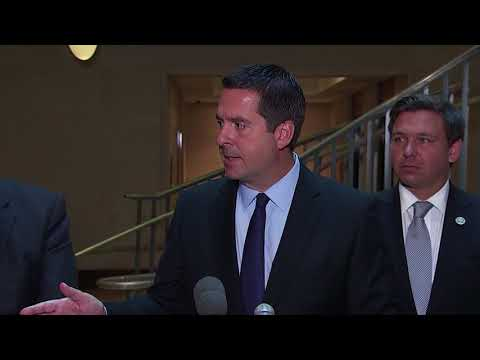 Nunes says he 'would prefer' reporters to stop saying he recused himself from Russia robe