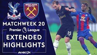Crystal Palace v. West Ham | PREMIER LEAGUE HIGHLIGHTS | 1/26/2021 | NBC Sports