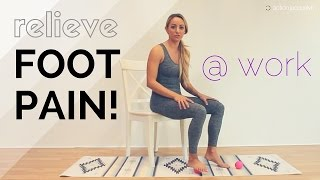 {How To} Yoga Stretches to relieve foot arch pain on bottom of foot {GetStretchy.net}