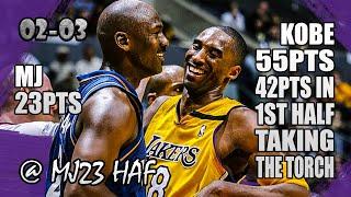 Kobe Bryant vs Michael Jordan Highlights (2003.03.28) - 78pts All! Kobe Explodes in Last Meeting!