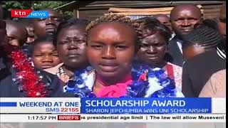 Second best student gets scholarship