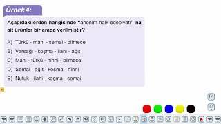 Eğitim Vadisi AYT Edebiyat 8.Föy Halk Edebiyatı Nazım Biçim ve Türleri Konu Anlatım Videoları