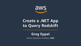 Create a .Net app to query Amazon Redshift