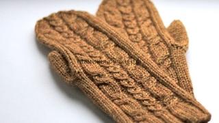 Связать Варежки Спицами для Начинающих 2017 / Assign Mittens Knitting needles for Beginners
