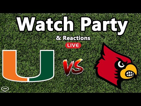 Miami Hurricanes vs Louisville Cardinals Watch Party & Reaction | NOT THE GAME