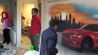 Graffiti habitación juvenil regalo sorpresa