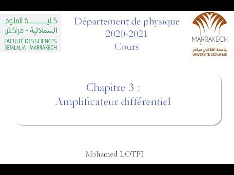 Cours : Amplificateur différentiel part1 (Electronique analogique)