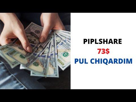 PIPLSHARE PROEKTIDAN PUL CHIQARDIM 73$ SOF FOYDA