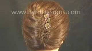 French Twist Tips And Techniques Using A French Hair Comb By Byrd Designs