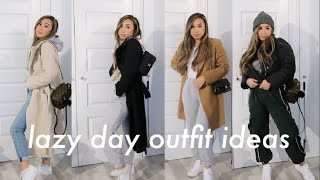 LAZY DAY OUTFIT IDEAS LOOKBOOK | Easy & Comfy