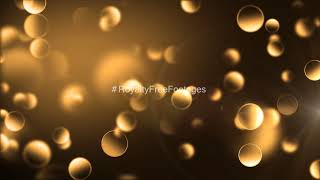 Golden particles background video | golden background video effects hd | Golden sparkling background