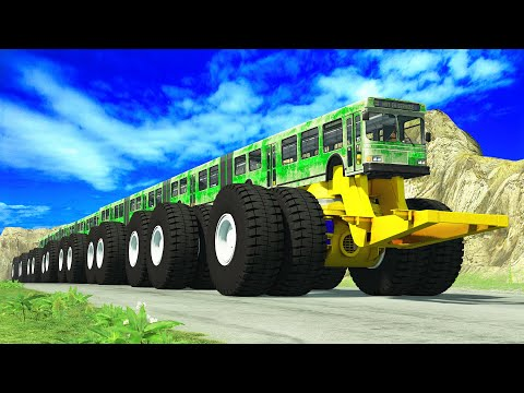 Articulated Bus Crashes #18 - BeamNG DRIVE - CrashTherapy