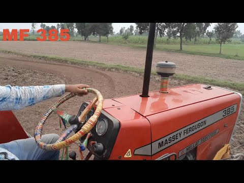 Selfie Video With Massey 385 Plowing Fields with Rotavator