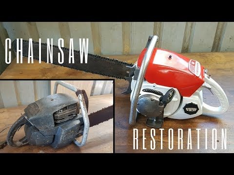 Seized 1960s Chainsaw Restoration (no music) [28:25]