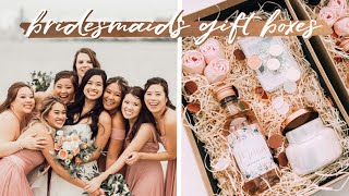 Bridesmaids Proposal Box And Gift Ideas | DIY Cricut Projects, Etsy, Dollar Tree, Michaels