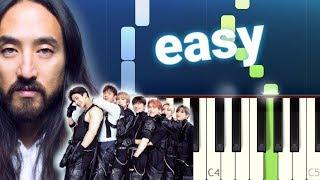 Steve Aoki & Monsta X - Play It Cool (100% EASY PIANO TUTORIAL)