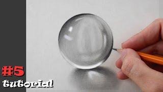 Как нарисовать реалистичный стеклянный шар - простой способ!