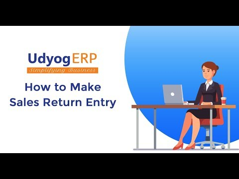 How to Make Sales Return in UdyogERP