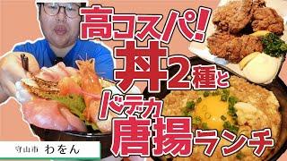 【湖国のグルメ】わをん【絶品地鶏そぼろ丼&高コスパ特盛海鮮丼】
