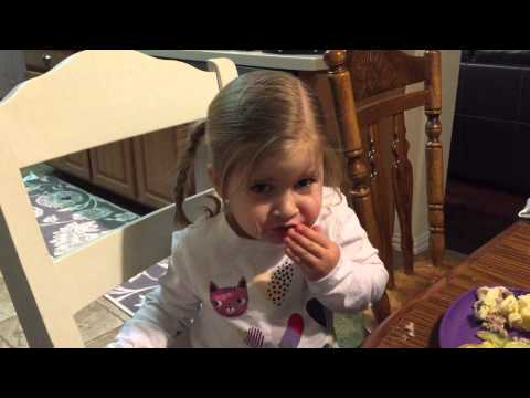 My child's first ever bite of zucchini. Wait for it…