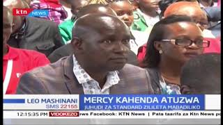Runinga ya KTN na Mwandishi wa The Standard Mercy Kahenda watuzwa kwa utenda kazi