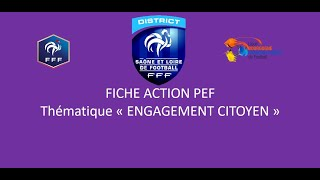 P.E.F ENGAGEMENT CITOYEN saison 2020-2021