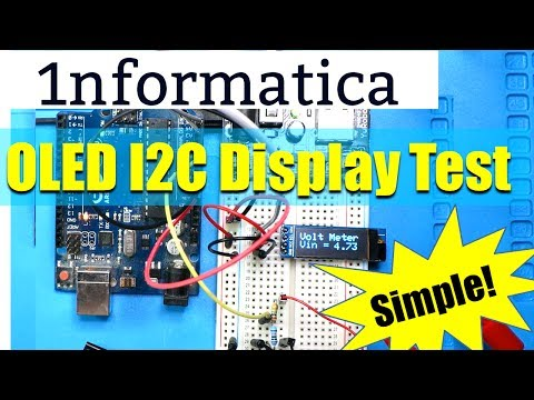 I2C OLED Display Module 128*32 from Banggood Voltmeter Example