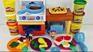 Play-doh Fun Meal Making Kitchen & Oven Pizza DIY Kids Fun Video