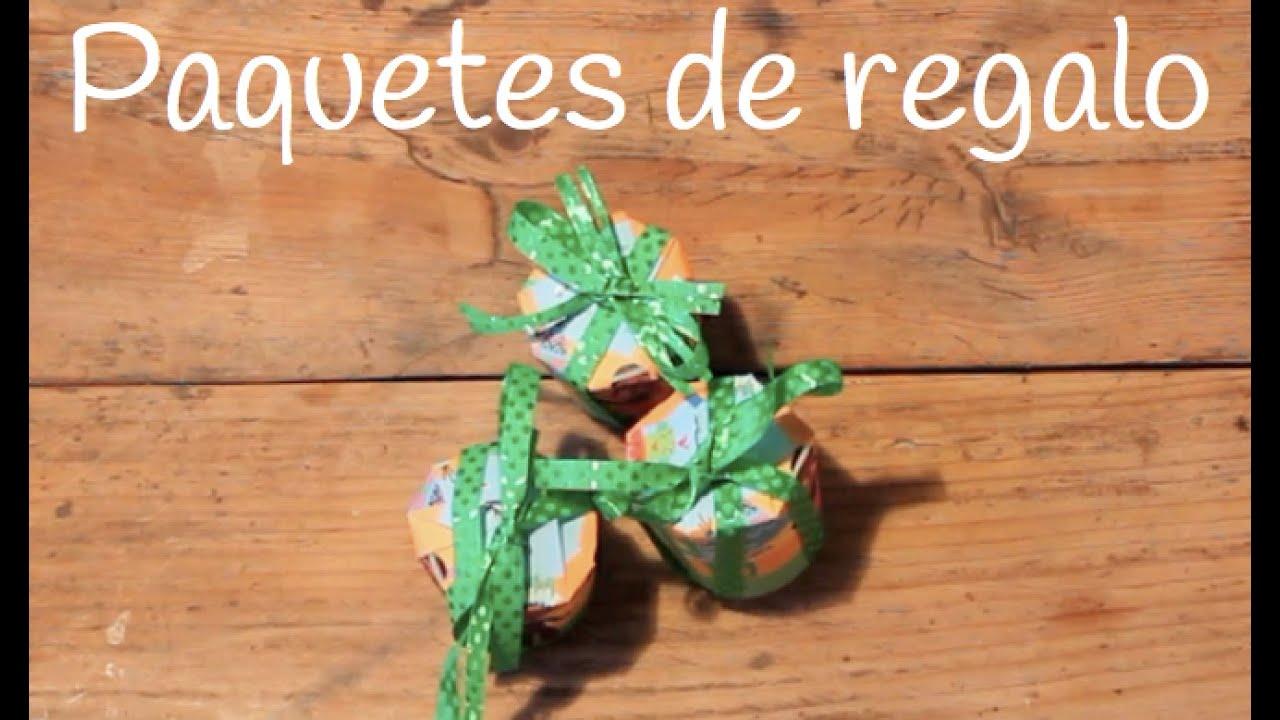 Envoltorios originales para regalos-Paquetitos hechos con vasos