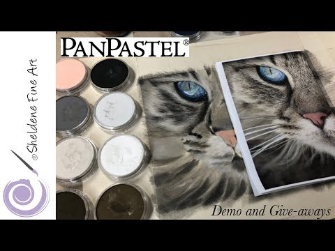 LIVE DEMO || PanPastel Cat Eyes And Fur And 3 PanPastel Give-aways