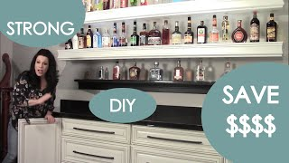 Basement Bar Ideas: Liquor Bottle Storage - Renee Romeo