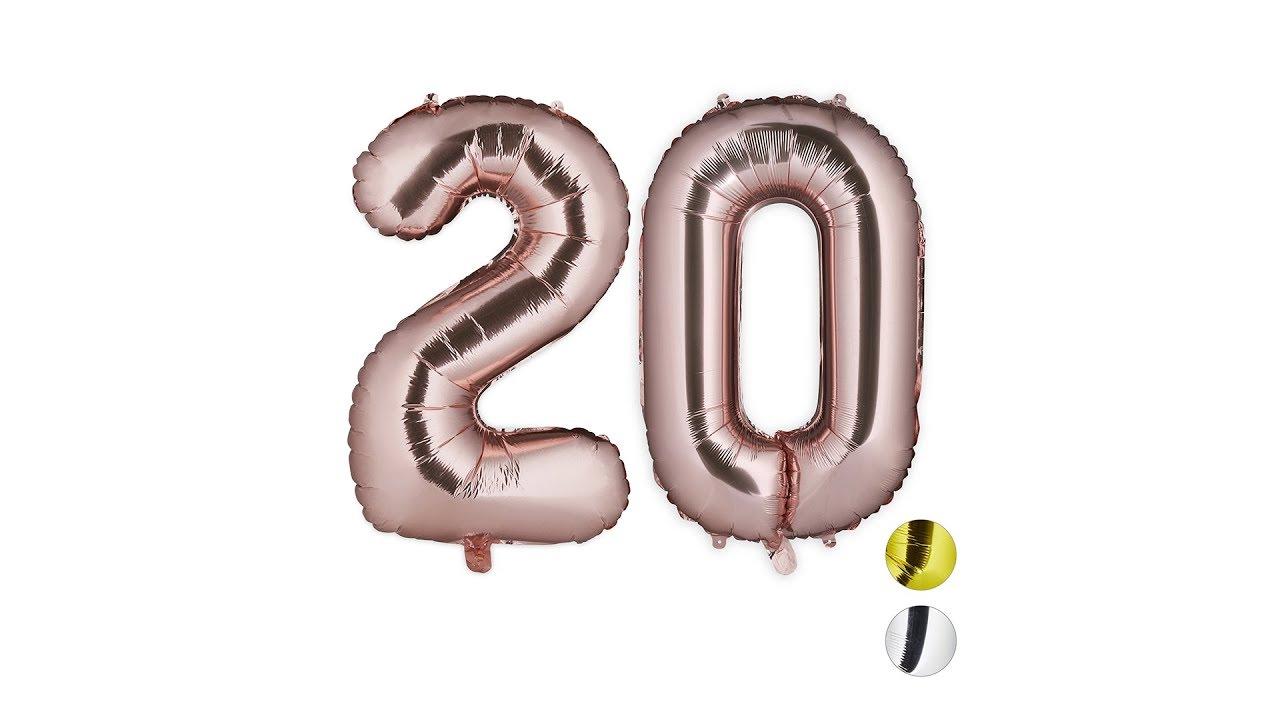 Video von: XXL Folienballon Zahl 20