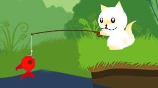 КОТЕНОК РЫБОЛОВ #1 мультик игра про симулятор маленького котика, который ловит рыбку #пурумчата