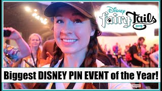 DISNEY FAIRYTAILS PIN EVENT! 2019 Epcot Disney Pin Trading Event Vlog!