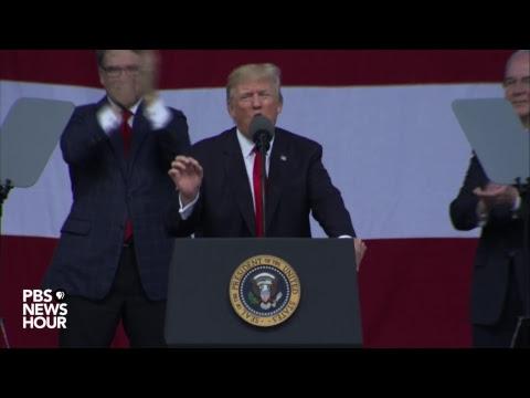 President Trump addresses Boy Scouts at annual jamboree